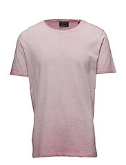 Cold dyed stripe tee - ASH PINK
