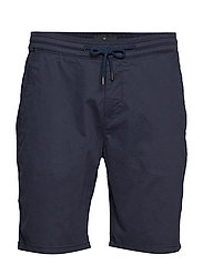 Stretch cotton shorts - NAVY