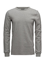 Double layer fabric sweat - GREY MEL