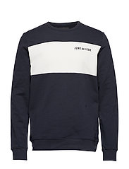Contrast panel sweat - NAVY