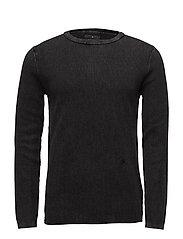 Vintage wash knitted jumper - PIRATE BLACK