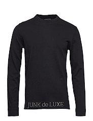 Jacquard logo knitted jumper - BLACK