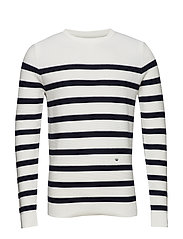 Striped knit jumper - OFF WHITE