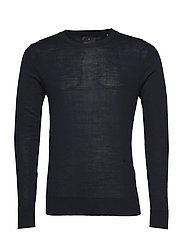 Fine merino wool knit jumper - DK BLUE