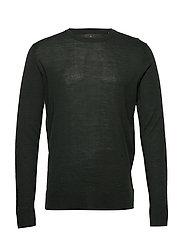 Fine merino wool knit jumper - DK GREEN