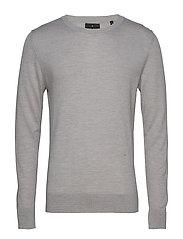 Fine merino wool knit jumper - GREY MEL