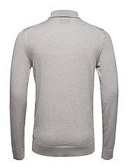 Fine merino wool roll neck kni