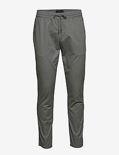 Stretch cotton pants - chinos - grey