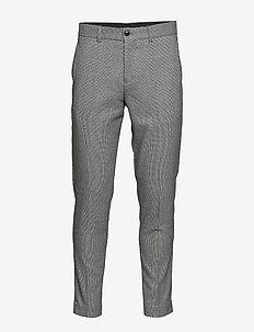 Puppytooth club pants - puvunhousut - grey mix