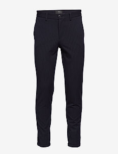 Pin stripe twill pants - puvunhousut - navy