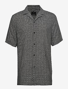 AOP S/S resort shirt - kortermede skjorter - off white