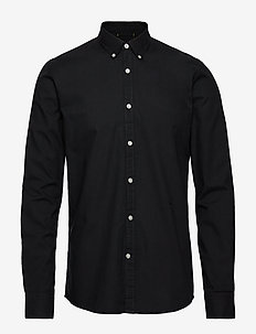 Oxford L/S shirt - BLACK