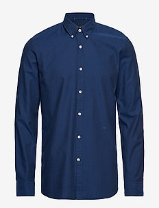 Oxford L/S shirt - DARK BLUE