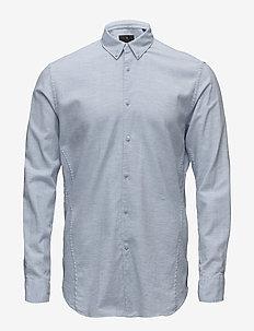 Cotton twill mélange L/S shirt - basic skjorter - lt blue mel