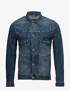 Dirty wash indigo denim jacket - denimjakker - dirty wash