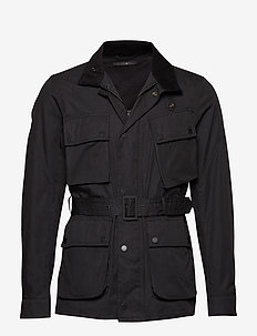 Waxed cotton motorcycle jacket - BLACK