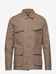 Ripstop motorcycle jacket - overshirts - dark sand