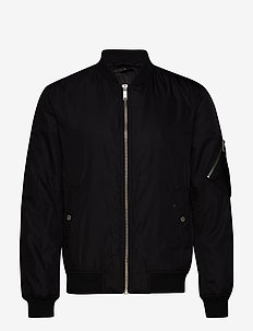 Padded bomber jacket - BLACK