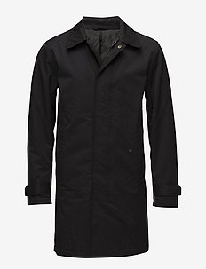 Padded Mac coat - toppatakit - black