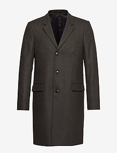 Tailored wool coat - villakangastakit - dk green mel