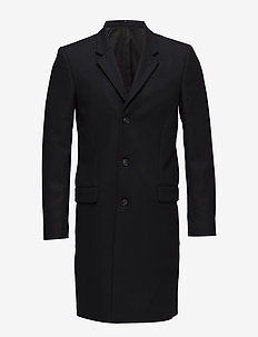 Tailored wool coat - DK NAVY