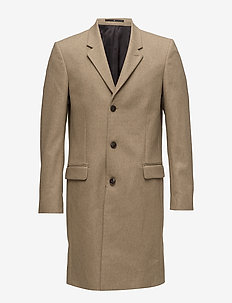 Tailored wool coat - SAND MEL
