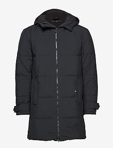 Down padded parka coat - BLACK