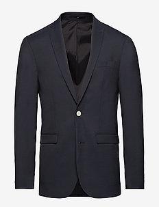 Stretch heavy twill blazer - enkeltkneppede blazere - navy