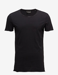 Raw edge tee - BLACK