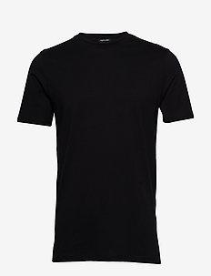 Round neck tee - BLACK