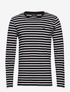 Stripe tee L/S - BLACK