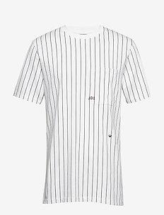 Loose fit stripe tee - WHITE
