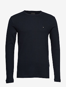Embroidery logo L/S tee - NAVY