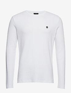 Embroidery logo L/S tee - WHITE