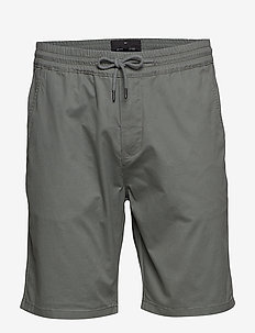 Stretch cotton shorts - casual shorts - grey