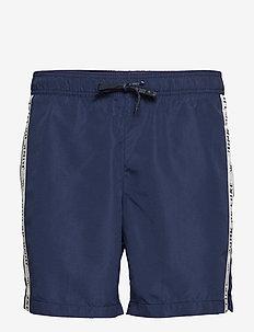 Logo tape swim shorts - uimashortsit - dk blue