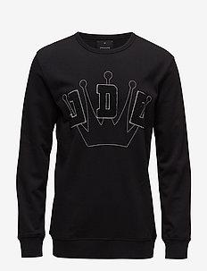 Logo application sweat - sweatshirts - black