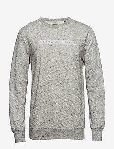 Herringbone double cloth sweat - svetarit - grey mel