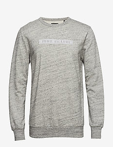 Herringbone double cloth sweat - sweatshirts - grey mel