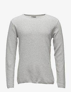 Waffle knit jumper - basisstrikkeplagg - grey mel