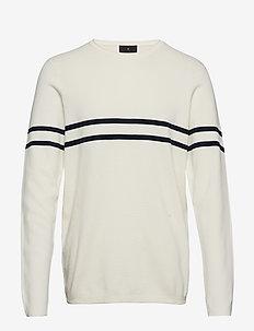 Contrast stripe knit jumper - OFF WHITE