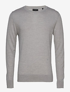 Fine merino wool knit jumper - GREY MEL
