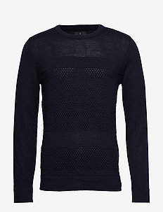Fisherman knitted jumper - NAVY