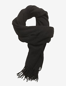Boiled wool scarf - skjerf - black