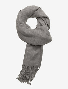 Boiled wool scarf - skjerf - lt grey mel