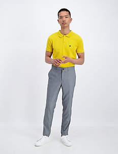 Puppytooth club pants - dressbukser - grey mix