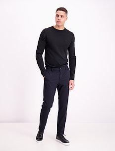 Pin stripe twill pants - dressbukser - navy