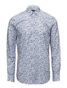 AOP cotton dress shirt - BLUE