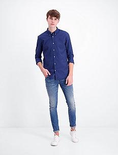 Oxford L/S shirt - peruspaitoja - dark blue