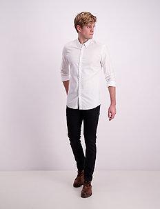 Oxford L/S shirt - peruspaitoja - white